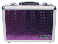 SPORTLOCK ALUMALOCK CASE DOUBLE HANDGUN PURPLE