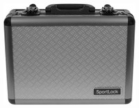 SPORTLOCK ALUMALOCK CASE DOUBLE HANDGUN GRAY