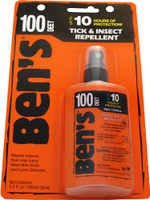 AMK BEN'S 100 INSECT REPELLENT 100% DEET 3.4OZ PUMP (CARDED)