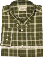 BERETTA MEN'S DRIP DRY LONG SLEEVE GREEN/BEIGE CHECK LARGE