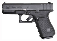 GLOCK 19 9MM GEN4 FIXED SIGHTS 15-SHOT BLACK