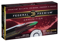 Federal P308TC2 Premium  308 Winchester/7.62 NATO 165 GR Trophy Copper 20 Bx/ 10 Cs*