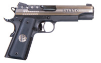 """Sig Sauer - 1911 Stand, 45 ACP, 5"""", Siglite Night Sights, Engraved Slide, Medallion Grip, Black, 7-rd FREE 100 ROUNDS OF WINCHESTER USA45AVP"""