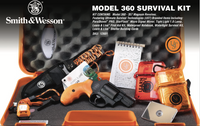 "Smith & Wesson 12601 360 Survival Kit Revolver Single/Double 357 Magnum 1.875"" 5 Rd Synthetic Safety Orange Grip Black Matte"