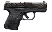 Mossberg 89002 MC1 Sub-Copmact 9mm Luger Double 3.4 CBS 6+1/7+1 Black Polymer Grip/Frame Black Stainless Steel Slide*