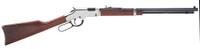 Henry H004SV Golden Boy Silver Lever 17 Hornady Magnum Rimfire (HMR) 20 11+1 American Walnut Stk Nickel Receiver/Blued Barrel*