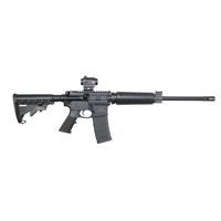 "Smith & Wesson 12936 M&P10 Sport II OR with Crimson Trace Red Dot Semi-Automatic 5.56 NATO 16"" 30+1 6-Position Black Stk Black Matte/Black Armornite Barrel"