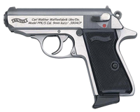 Walther Arms 4796004 PPK/S Single/Double 380 Automatic Colt Pistol (ACP) 3.3 7+1 Black Checkered Grip Stainless*