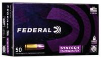Federal AE9SJ4 Syntech Training Match 9mm Luger 124 GR Total Syntech Jacket Flat Nose 50 Bx/ 10 Cs*