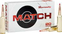 Hornady 82180 Match 300 Winchester Magnum 195 GR ELD-Match 20 Bx/ 10 Cs*