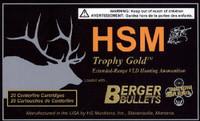 HSM BER65REM140V Trophy Gold  6.5mm Rem Mag 140 GR Match Very Low Drag 20 Bx/ 20 Cs*