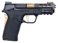 Smith & Wesson 12719 Performance Center 380 Shield EZ 380 Automatic Colt Pistol (ACP) Double 3.8 8+1 Black Poly Grip/Frame Grip Black Armornite Stainless Steel Slide Gold Bbl*