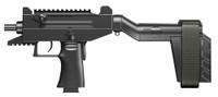 IWI US UPP9SB Uzi Pro 9mm with Stabilizing Brace Pistol Semi-Automatic 9mm 4.5 20+1/25+1 Polymer Black Hard Coat Anodized Finish*