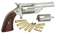 NAA 22MCBTII250 Ranger II  Single 22 LR/22 Mag 1.63 5 Rd Rosewood Bird's Head Grip Chrome*