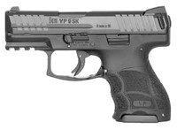 HK 700009KA5 VP9 SK 9mm Luger Double 3.39 10+1 Black Interchangeable Backstrap Grip Black Slide*