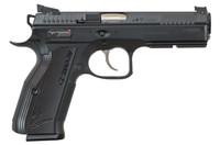 """CZ 91763 SP-01 AccuShadow 2 9mm Luger Single/Double 4.8"""" 17+1 Black Aluminum Grip Black Nitride Slide"""