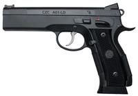 """CZ 91731 A01 9mm Luger Single 4.9"""" 19+1 Black Checkered Grip Blued Steel Slide"""