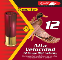 Aguila 1CHB1202 Field  12 Gauge 2.75 1 1/4 oz 2 Shot 25 Bx/ 10 Cs