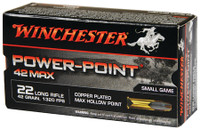WIN 42 Max Power Point .22 Long Rifle 42 Grain Power-Point Lead Hollow Point Winchester 42 Max Power Point
