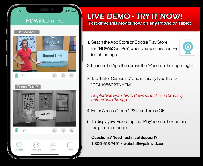 Live Demo Cam-DGK083292ZESND-Try It Now!