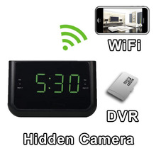 Alarm Clock Hidden Camera Spy Camera Nanny Cam Hidden Camera with WiFi DVR IP Live