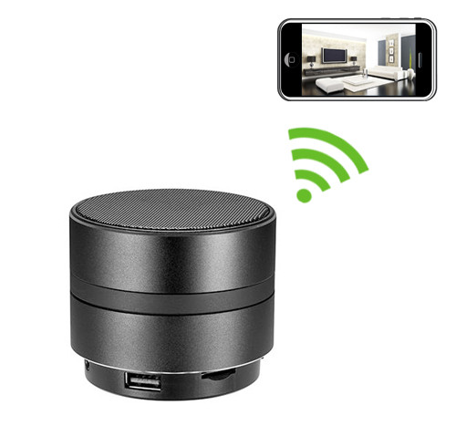 Bluetooth Speaker Hidden Camera with Built-in DVR and WiFi