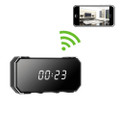 Digital Clock Hidden Camera WiFi DVR with Wide Angle Lens and Night Vision 1280x720