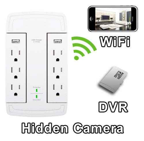 WiFi Series Outlet Multiplier Hidden Camera Spy Camera Nanny Camera