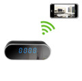 Oval Digital Clock Hidden Camera WiFi DVR with Wide Angle Lens and Night Vision 1280x720