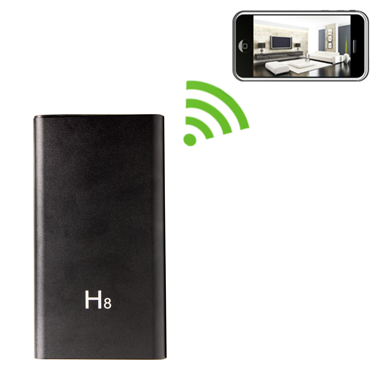 Slimline Power Bank Hidden Camera with DVR and Night Vision 1920x1080