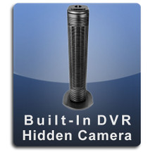 Tower Fan Hidden Camera Nanny Cam with Built-in DVR