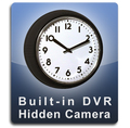 Built-In DVR Wall Clock Hidden Camera Nanny Cam Black Frame