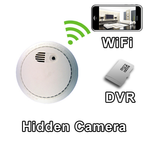 Palmvid Wifi Series Smoke Detector Hidden Camera