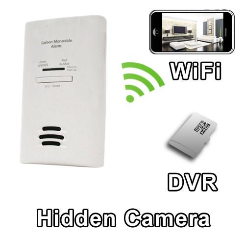 WiFi CO2 Carbon Monoxide Detector Hidden Camera Spy Camera Nanny Cam