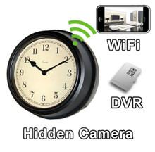 WiFi Antique Style Wall Clock Hidden Camera Spy Camera Nanny Cam
