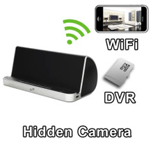 USB Charging Docking Station with Bluetooth Speaker Hidden Camera Spy Camera Nanny Cam Hidden Camera with WiFi DVR IP Live