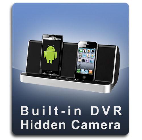 Bluetooth Speaker USB Charging Cell Phone Docking Station Hidden Camera Spy Camera Nanny Cam