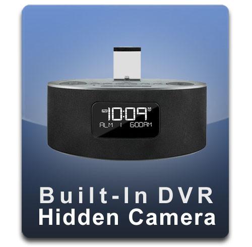 iPhone iPad Docking Station Hidden Camera Spy Camera Nanny Cam