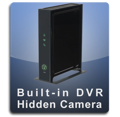 Router Hidden Camera Spy Camera Nanny Cam with Built-in DVR Wide Front Profile