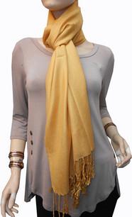 Amber Yellow Pashmina Scarf