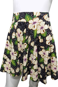 Black Rose Printed Skirt