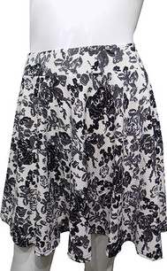 Black/White Floral Printed Skirt