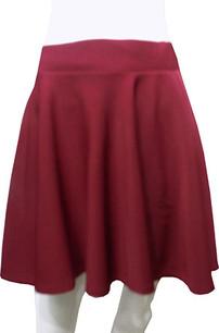 Burgundy Scuba Skirt
