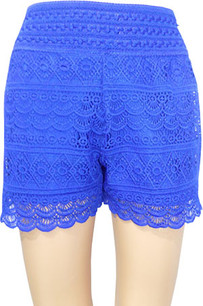 SH03 Blue Crochet Shorts