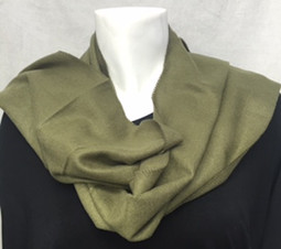 Olive Cashmere-Feel Scarf