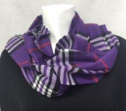 Purple Plaid Cashmere-Feel Scarf