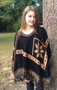 1457 Black w/ Brown Poncho