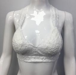 B82 White Lace Bra