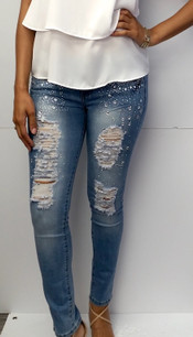 2210 Stone Embellished Jeans