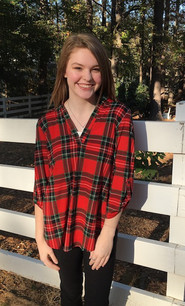 3288 Red/Green Plaid Top